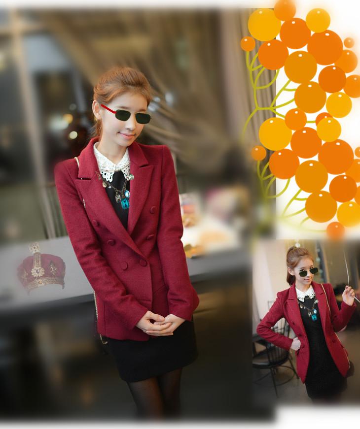 2013 plus size woolen suit female slim classic jacket - bingwen chen's store