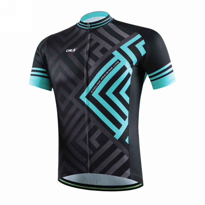 Bike Jersey Summer Cycling Short Sleeve Shirt Top Bicycle ciclismo Full Zipper Jacket Maze Black-Green Quick Dry<br><br>Aliexpress