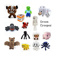 2016 New 16-26CM Minecraft Plush Toys Green Zombies Enderman Batman JJ Strange Sheep Mooshroom Animal Stuffed Kids Toys(China (Mainland))