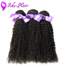 6A Brazilian Virgin Hair Kinky Curly 3 Pcs Brazilian Hair Weave Bundles 100g/pc Unprocessed Brazilian Deep Curly Virgin Hair