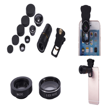Buy Universal Camera Lens Iphone Samsung HTC Telephoto Lens + Super Wide Angle + Fisheye Lens + Wide Angle + Macro Lens for $14.99 in AliExpress store