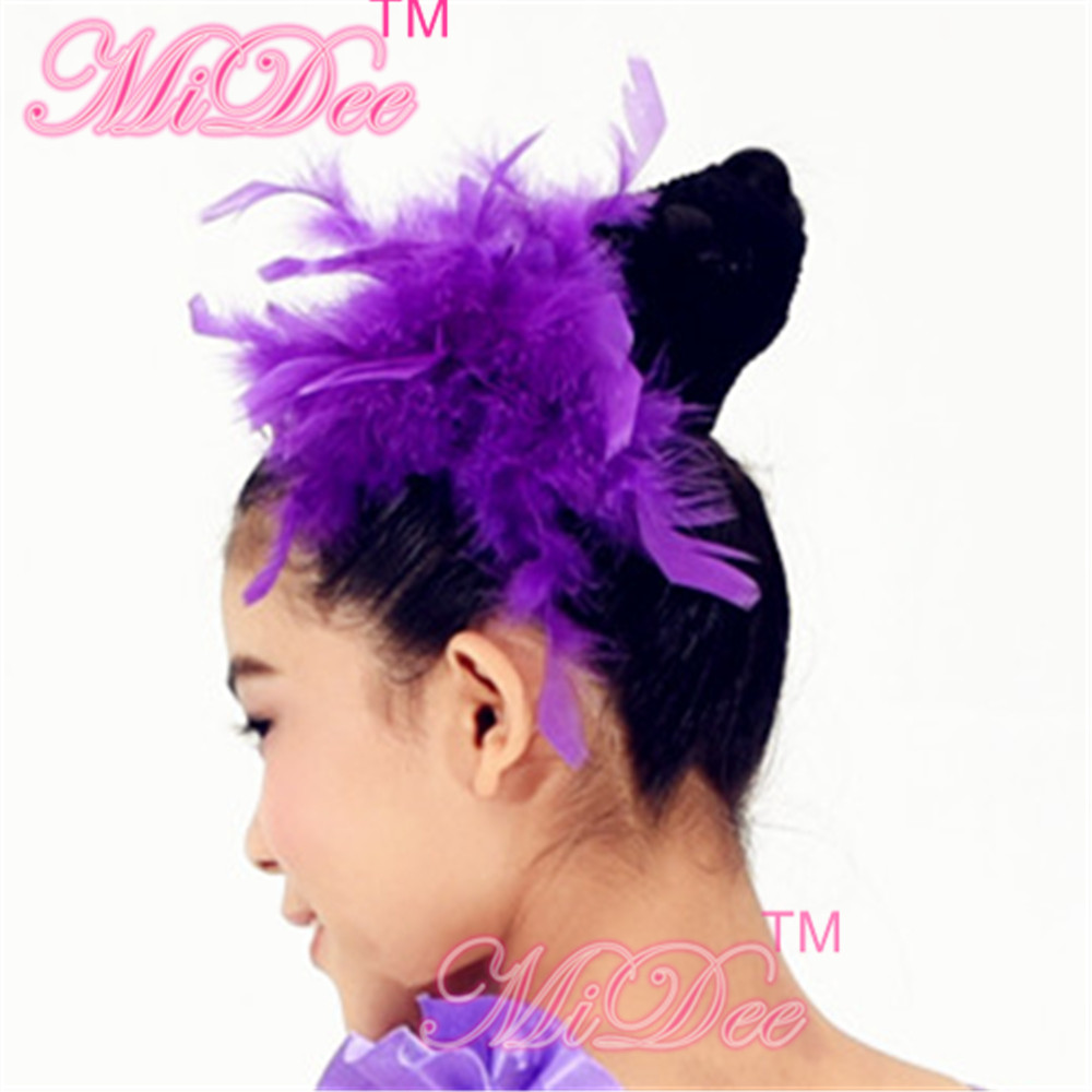 Girls Accessories Fascinator Feather Hair Stage Performance Colourful Headpiece Hair Accessories For Women And Girls(China (Mainland))