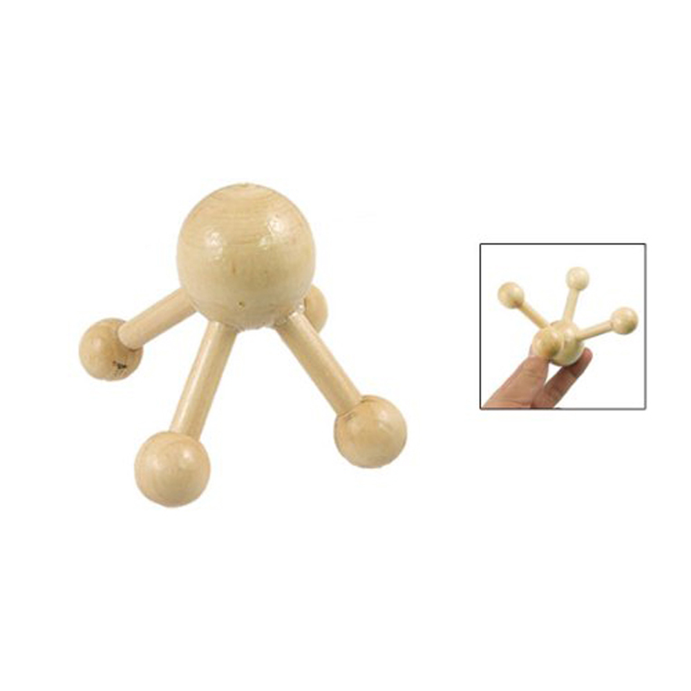 New Queen! Health Care Wooden 4 Points Stress Release Head Scalp Massager(China (Mainland))