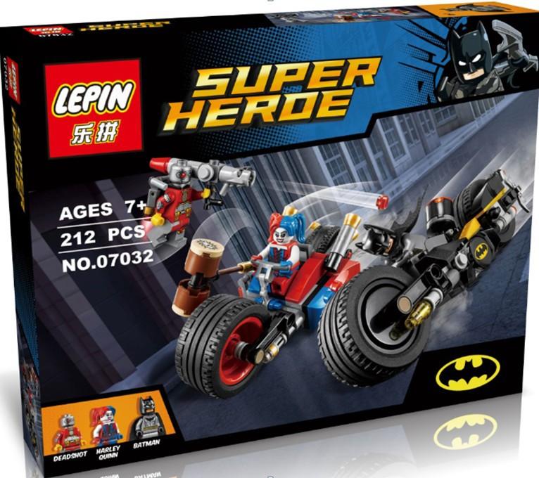 LEPINDC Comics Super Hero Batman Gotham City Cycle Chase Model Building Kit Minifigures Blocks Brick Toy Compatible Legoe 76053(China (Mainland))