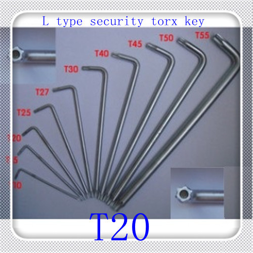 50 pcs/lot High Quality T20 Alloy Steel  L type security Torx  Key Box End Wrench<br><br>Aliexpress