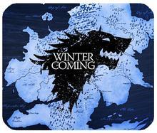 Скоро зима игра престолов кремния против скольжения коврик для компьютерной мыши коврик
