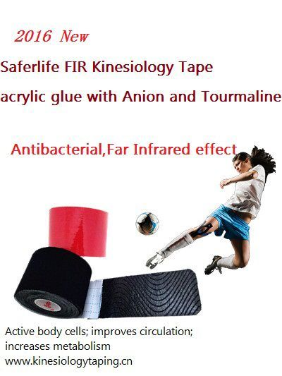 10% off New Arrival FIR synthetic Kinesiology Therapy Tape Tourmaline Elastic MUSCLE TAPE 5cm x 5m