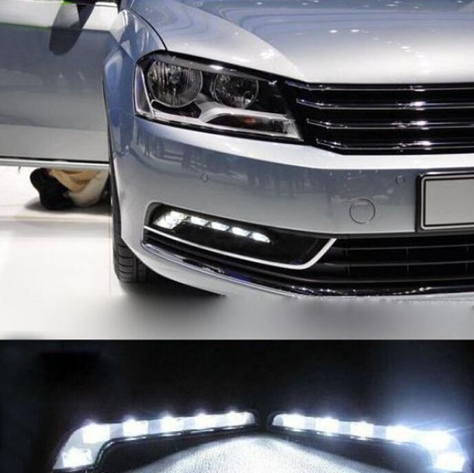 2015 New 2X 6 LED Car Daytime Running Light DRL Daylight Lamp with Turn Lights DRL Daytime Running Lights car styling(China (Mainland))