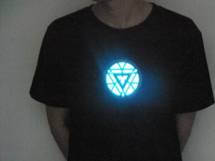 iron man 3 t shirt led t shirts light up led iron man