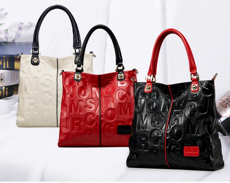 2016 womens genuine leather handbag the trend of fashion shoulder bag messenger bag fashion bag handbag large bag<br><br>Aliexpress