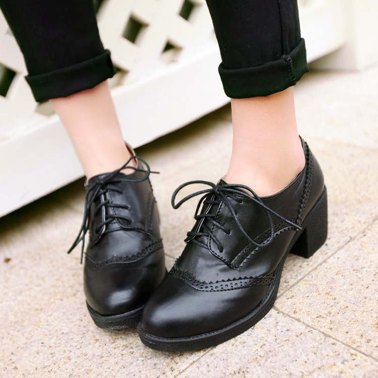 Women S Oxford Patent Faux Leather Dress Shoes