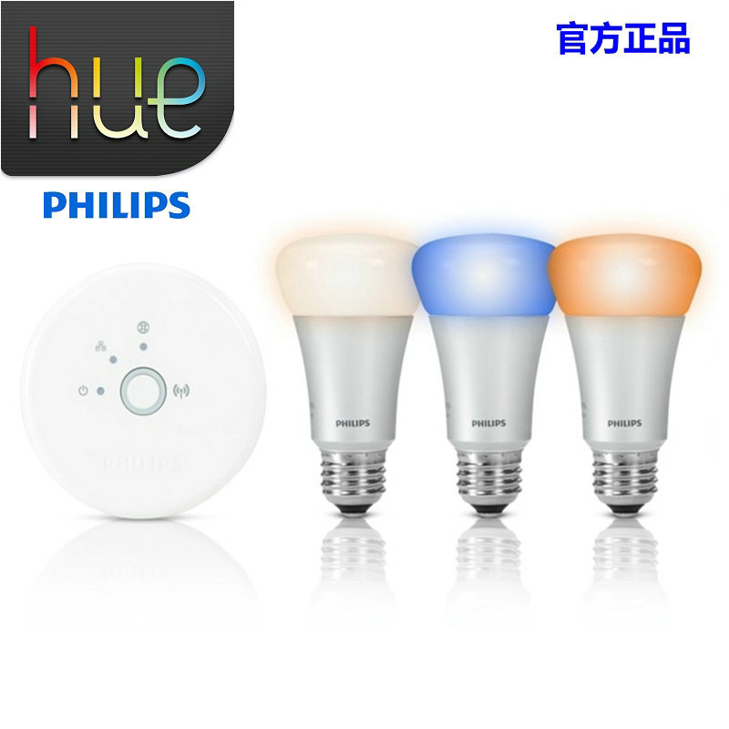 for philips hue smart wireless control rgb led light 3pcs e27 led bulbs with connector for apple. Black Bedroom Furniture Sets. Home Design Ideas