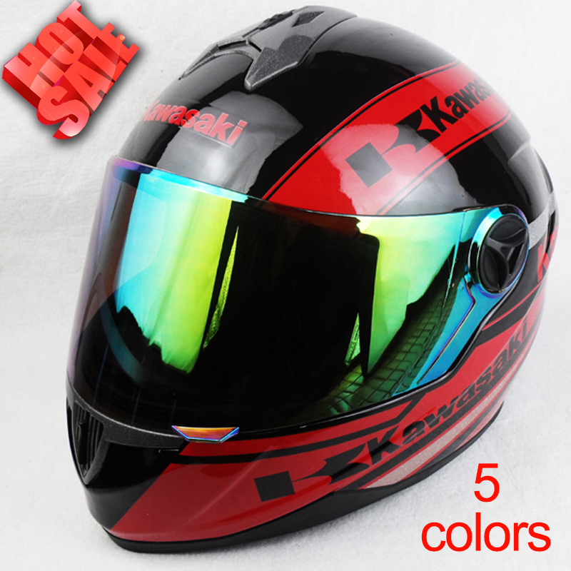 Free shopping New Kawasaki Full Face Motorcycle helmet Racing Moto Motocicleta Capacete Casco Casque Kask DOT Approved Helmets(China (Mainland))