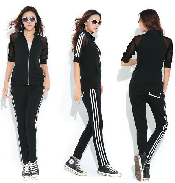new 2014 Slim leisure suit large size women plus fertilizer XL loaded fat suit jogging women casual dress 2 piece set women 839(China (Mainland))