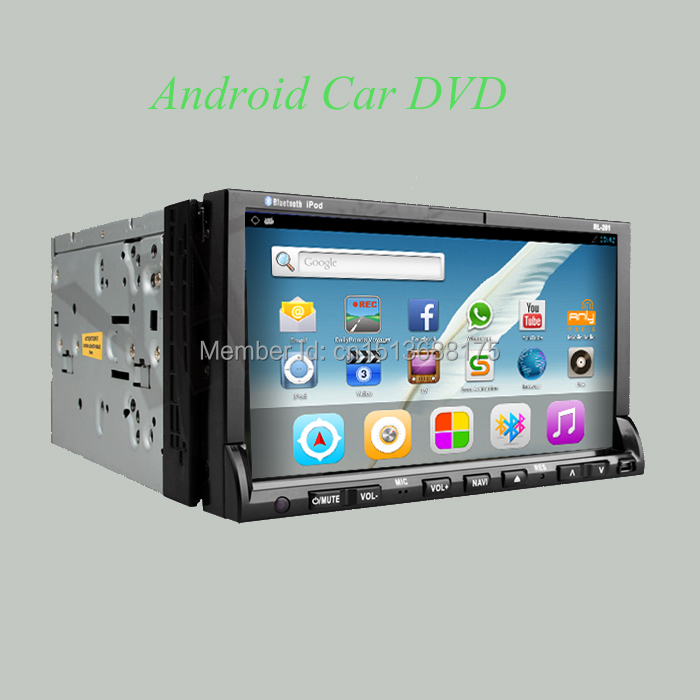 Android car dvd 7 inch Motorized Touchscreen 2 Din Car DVD PlayerWith GPS Navigation,Bluetooth,FM/AM,MP3/MPEG4,IPOD,DVD,USB,SD(China (Mainland))