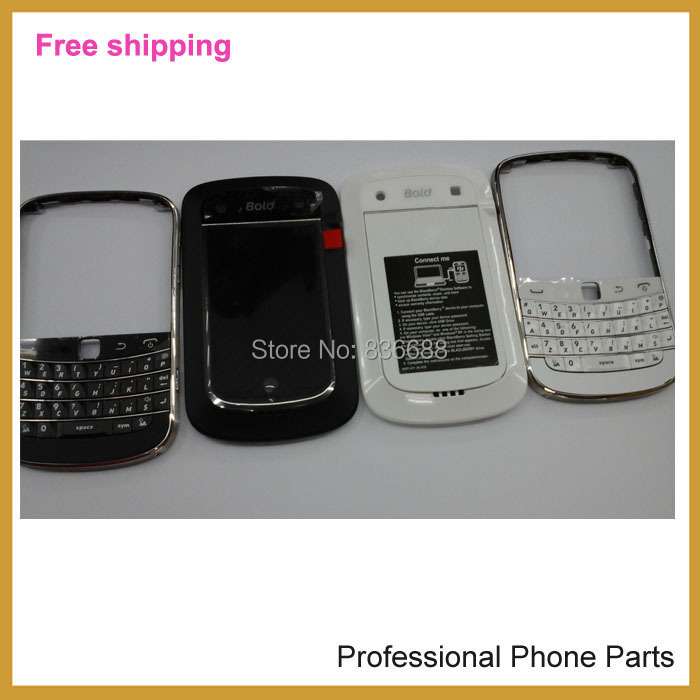 100% Original complete Full Set Housing + keypad +Battery Door Back Cover Case For Blackberry bold 9900 Housing, Free Shipping(China (Mainland))