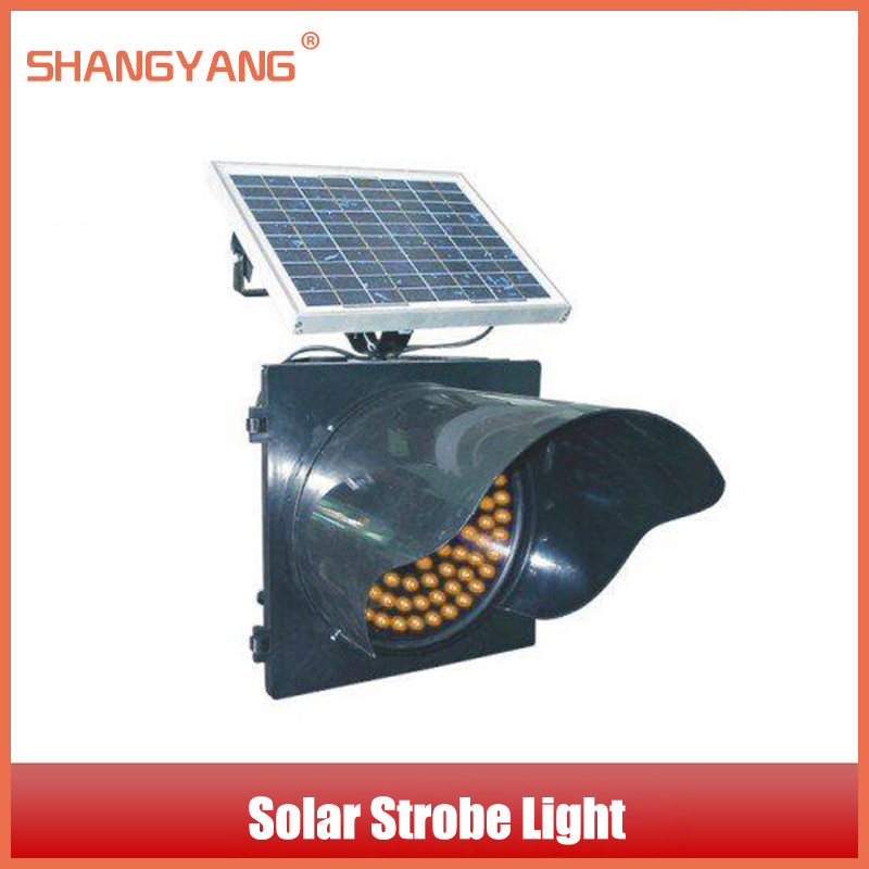 Factory Outlet Brand Solar Lights Intersection Traffic Lights LED Solar Yellow Strobe Warning Light Traffic Facilities SY-TL013(China (Mainland))