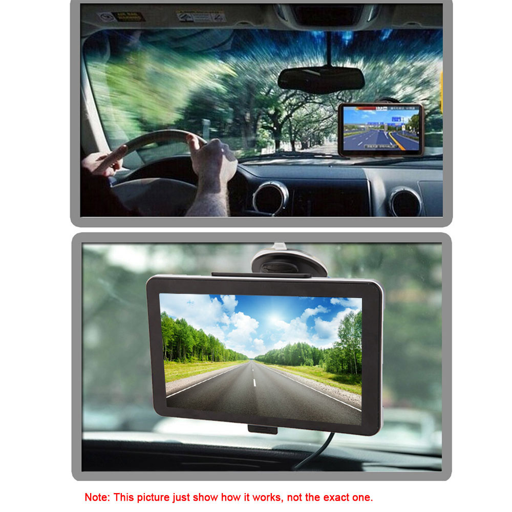 """KKmoon 7"""" Portable HD Screen GPS Navigator 4GB ROM MP3 FM Video Play Car Entertainment System with Back Support +Free Map(China (Mainland))"""