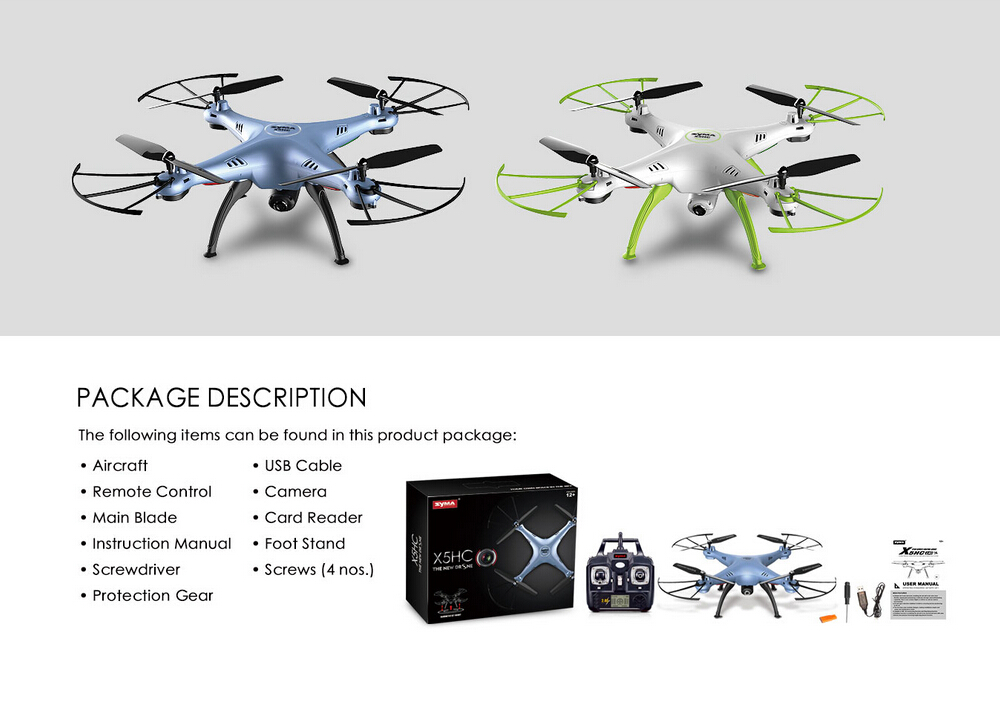 SYMA X5C Updated Version SYMA X5HC 4CH 2.4G 6-Axis RC Quadcopter Drone With Camera RC Helicopter VS Syma X5SG X5SW MJX X400/X600