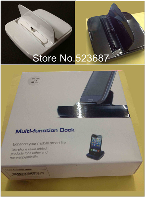 Multi-function Desktop Dock Charger and Holder for Samsung GALAXY S4 i9500/S III i9300/Note II N7100+HK Free shipping