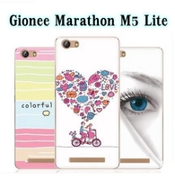 TPU Colorful Cartoon Drawing Printed Cover Shell Case for Gionee Marathon M5 Lite Mobile Phone Case Registered Free Shipping