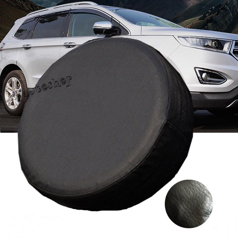 "Universal Black Car PU Wheel Spare Cover Tire Case RV Truck Trailer Camper Vinyl Auto Case 14"" 15"" 16"" 17""(China (Mainland))"