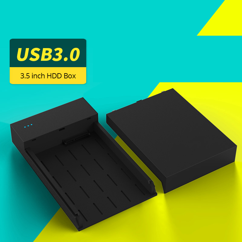 """HDD External Enclosure Tool Free 2.5/3.5 inch USB 3.0 High Speed Hard Drive Disk Box SSD Case For 2.5"""" 3.5"""" SATA HDD With Power(China (Mainland))"""