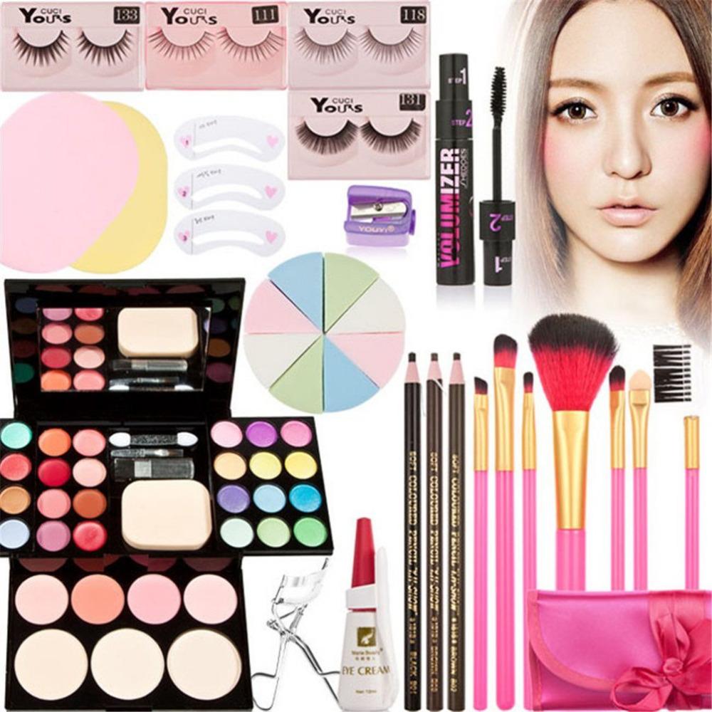 Fashion Base Perfect 8 Pcs Learner Holiday Gift Set Makeup Kit -Complete Eye Shadow Make-up Beauty Case