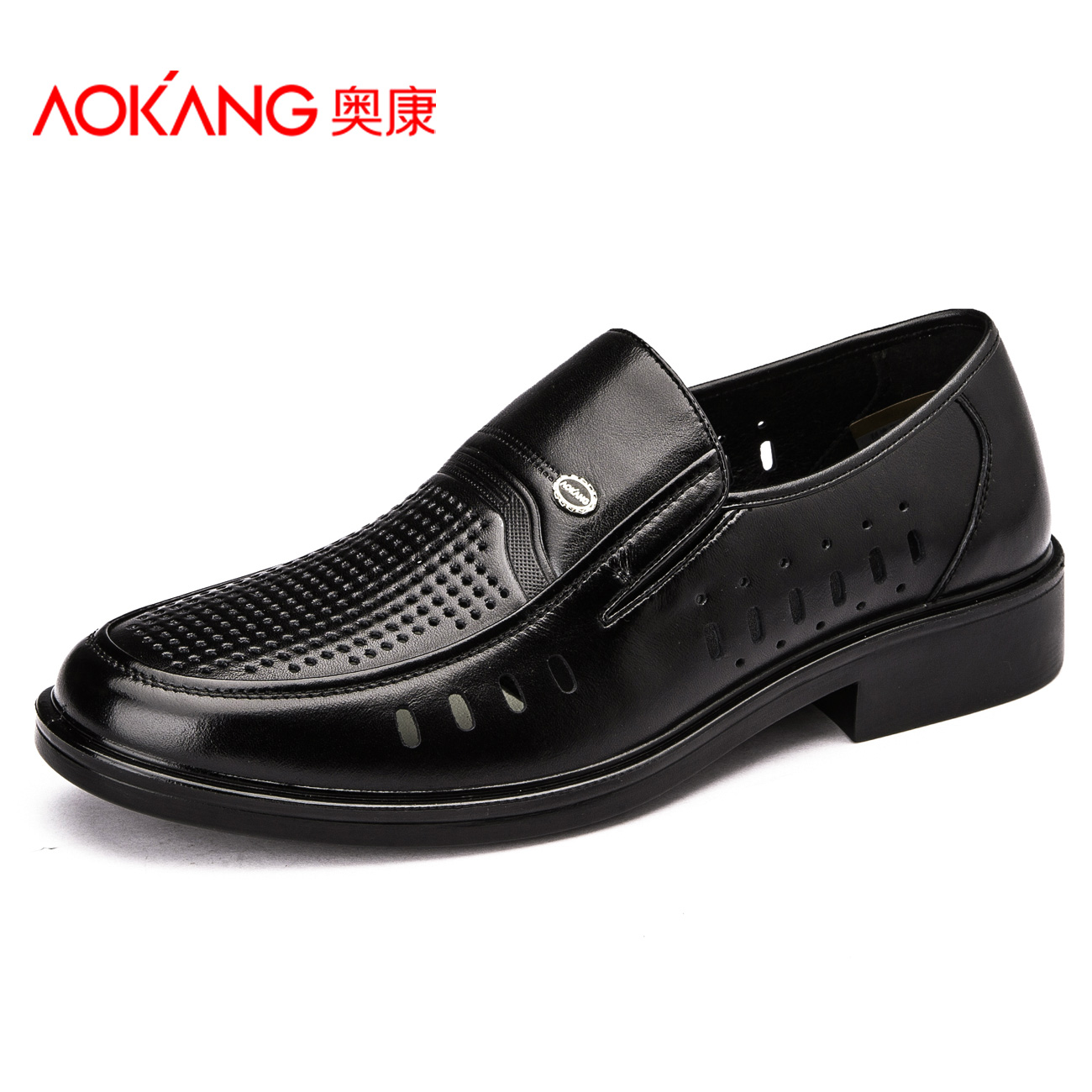 aokang 2015 new arrival summer genuine leather cool cutout