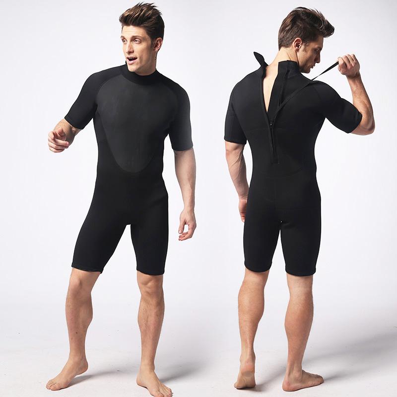 Spearfishing Piece Wetsuit Short section 3MM Neoprene Scuba Diving Suit Waterproof Keep Warm Triathlon Anti-UV Surf Wetsuits(China (Mainland))
