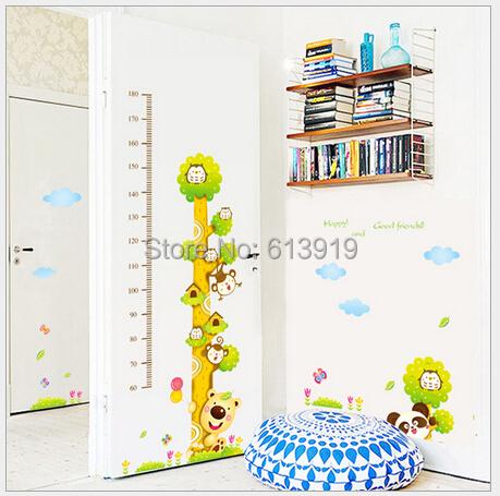 Koalas Cartoon Height Feet Kids Room Wall Sticker Bedroom Decoration Decals Size 50*70cm - DIY Sky store