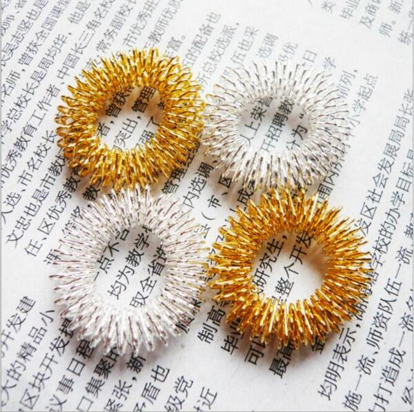10pcs/lot Beauty & Health Finger Massage Ring Acupuncture Ring Health Care Body Massage MR0009