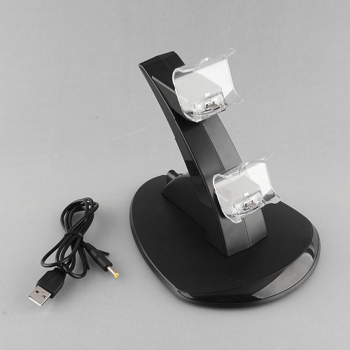 LED Dual USB Charger Docking Stand for Playstation PS4 Controller Gamepad Free shipping(China (Mainland))