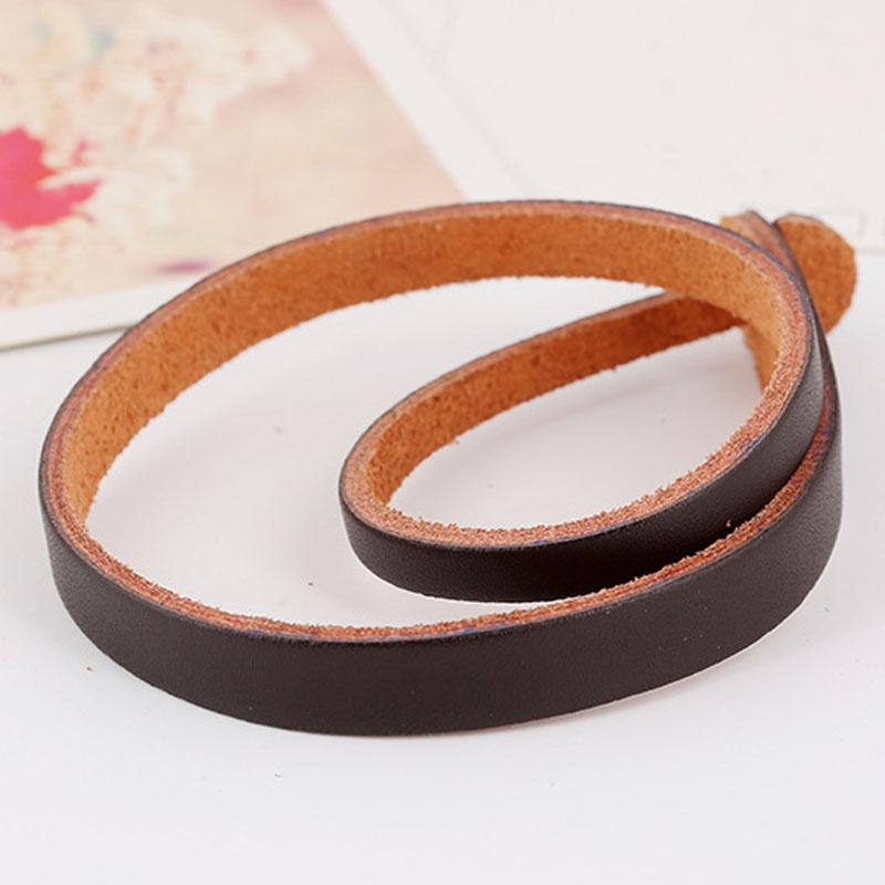 Creative Brown Black Genuine Leather Twisting Snake Chain Cutting Belt Wrist Bracelet(China (Mainland))