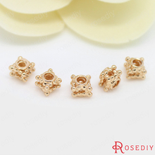 Buy 10PCS 5MM 24K Champagne Gold Color Plated Brass Cube Spacer Beads Bracelet Beads High Diy Jewelry Accessories for $3.70 in AliExpress store