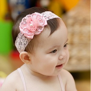 Promotion! Baby Flower and Pearl Design Headbands/Infant Headwear/Hair Accessories-1006, 10pcs/lot