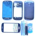 Original i8190 Blue White Full Housing Cover for Samsung Galaxy S3 mini Full Housing Middle Frame