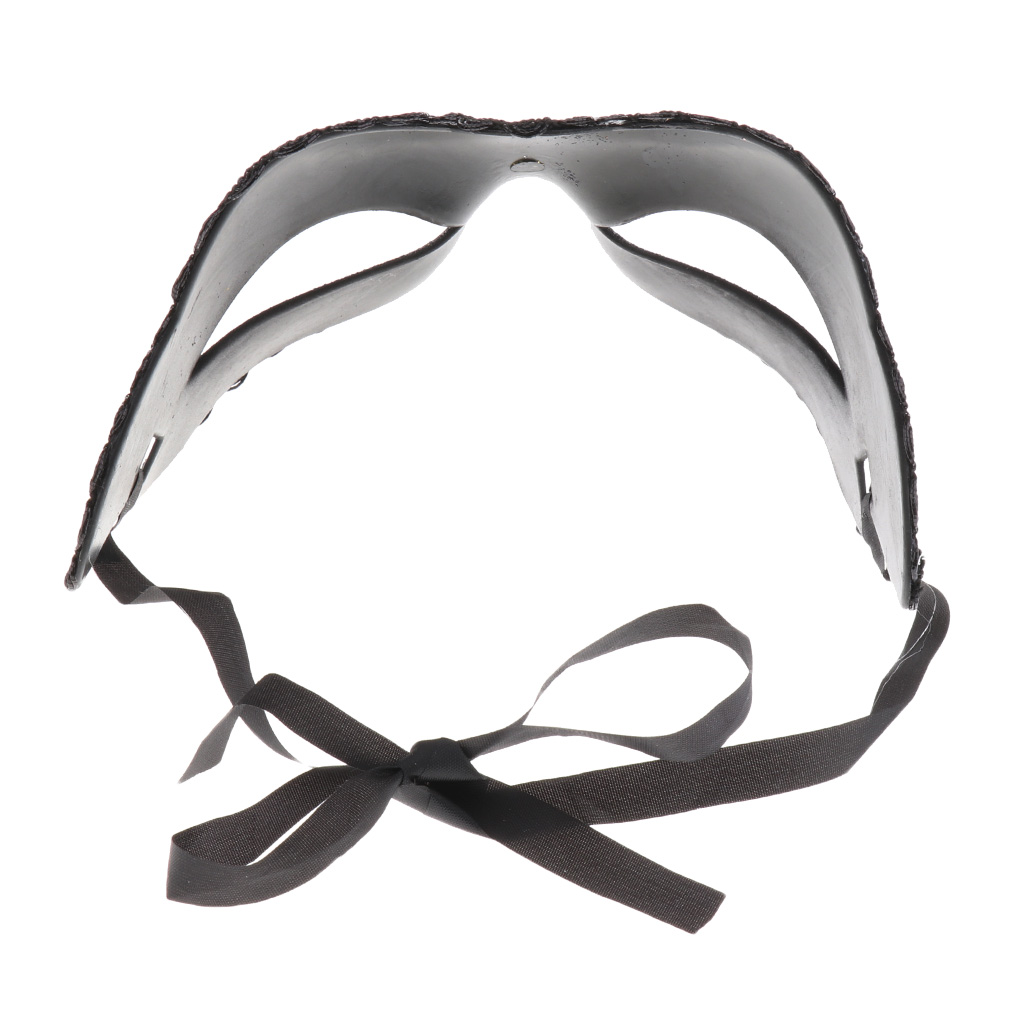 1PCS Sexy Ladies Masquerade Ball Mask Venetian Party Eye Mask Lace Up New Black Carnival Fancy Dress Costume Party Decor