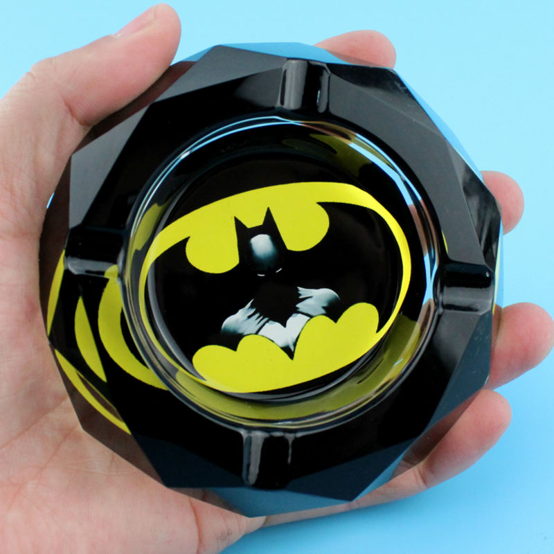 Related Products Of Hollywood Movie Super Hero Batman Fan Crystal Smoking Gift For Husband Man Boyfriend Bedroom Mini Ashtray(China (Mainland))
