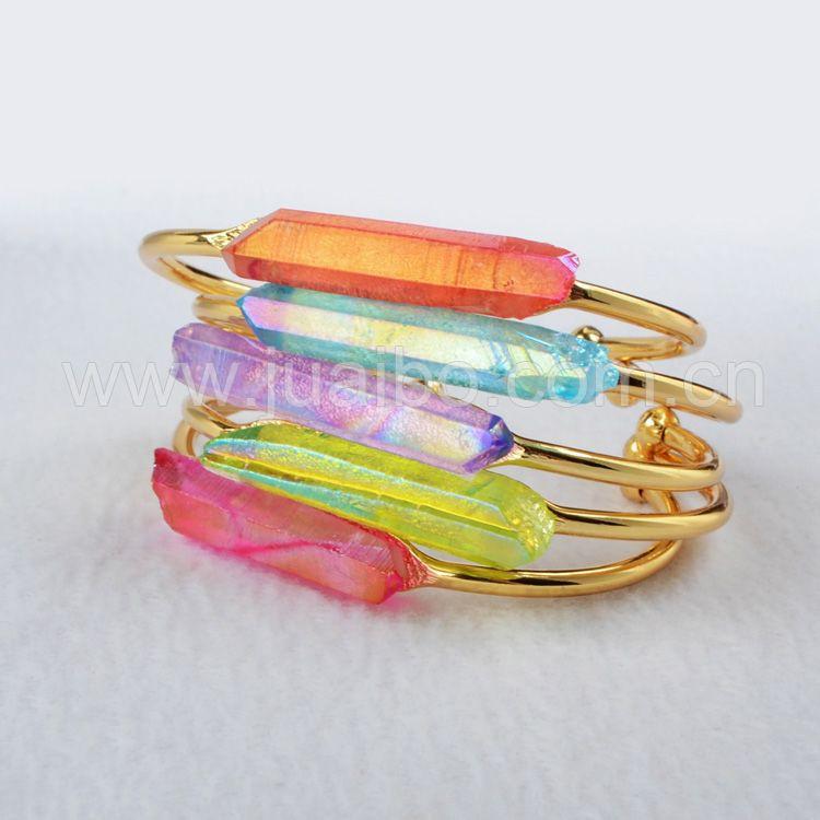 gold and rainbow aura