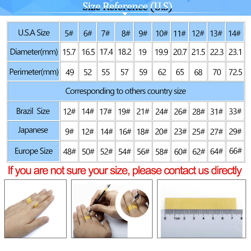 Ring size -