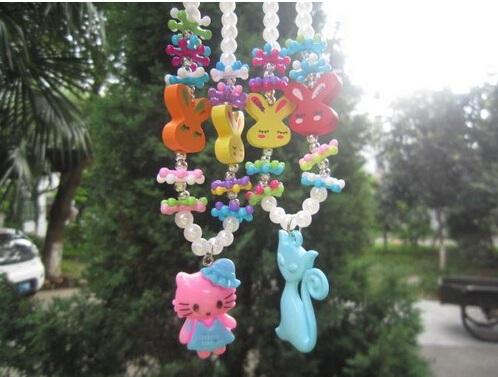 New Kids baby girls hello Kitty & fox Necklace& Bracelet set / Jewelry Accessories set / Animal set(China (Mainland))