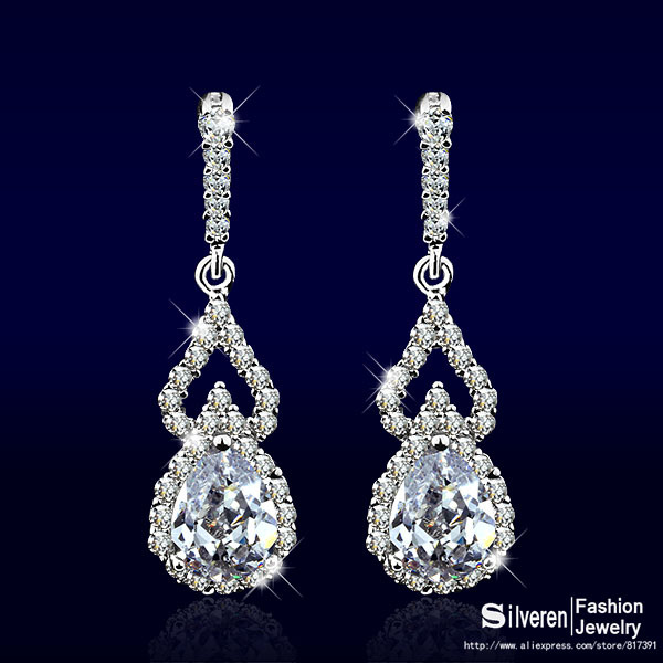 crystal stud earring ear pair elegant women pp lady earrings rhinestone