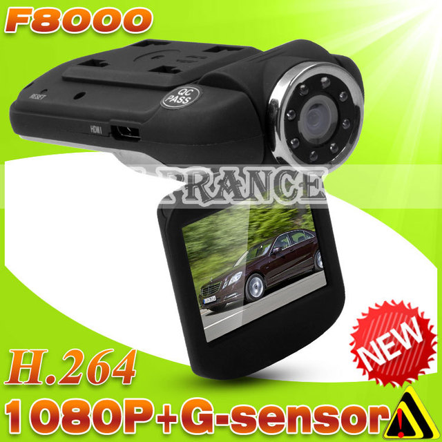 New F8000 F8000L Car DVR Camera with 1920*1080P  Video Codec H.264 120 Degree Wide Angle Russian and English language OT30