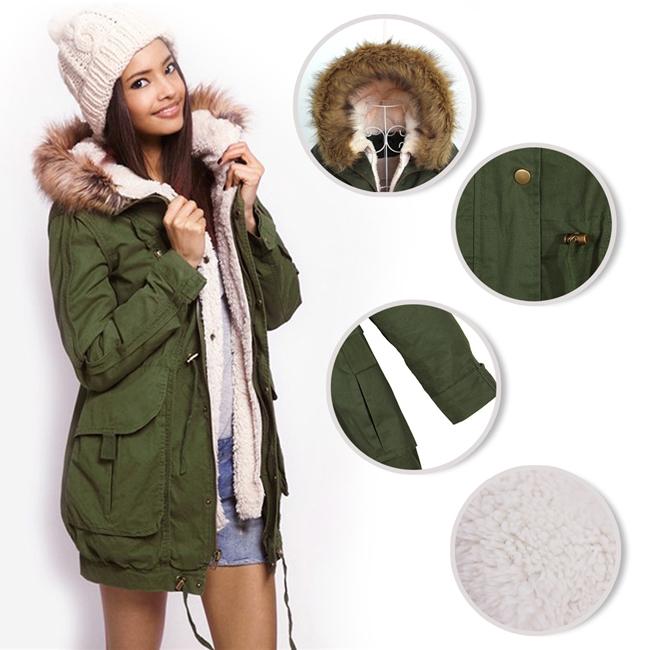 Girls Green Parka Jacket | Outdoor Jacket