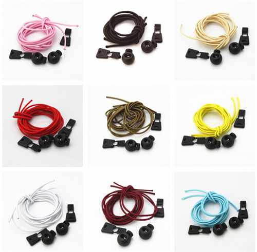 A Pair Of Locking Shoe Laces Elastic Shoelaces Shoestrings Running/Jogging/Triathlon/Sports Fitness 13 colors 1.1 M(China (Mainland))