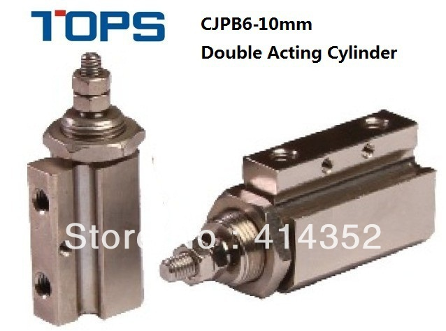 CJPB6x10mm double acting needle stainless steel cylinder(China (Mainland))