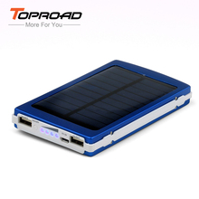 Solar Power Bank 10000mAh Portable Charger Universal LED Dual USB External Battery Bank Laptop Battery Pack for Mobile Phones