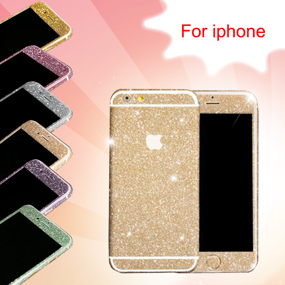 New Arrival Full Body Glitter for iPhone 5 5S Shiny Phone Sticker Matte Screen Protector(China (Mainland))