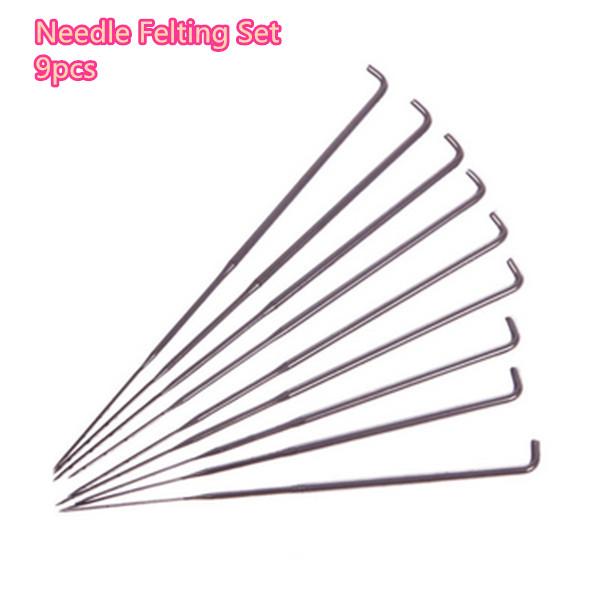LOW PRICE!!! 9Pcs Mixed Needle Felting Set Tools Handle Holder With Bottle Craft Kit Embroidery Home Hand DIY Tools Wool Felt(China (Mainland))
